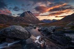 The Hunter (Ole Henrik Skjelstad) Tags: norge norway romsdalen valley mountains lake fall autumn river water sunrise rocks