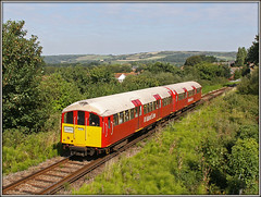 Island Lines new look......... (Jason 87030) Tags: 483006 emu electricmultipleunit sandosn shanklin ryde island line red vehicle logo view canon eos pole vantage losaltos iow isleofwight thirdrail stock vintage old dinosaus hills downs tree tracks train railway newlook image 1938 september 2018 fun play hols holiday break service