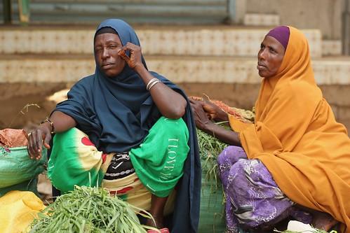 Somali women selling animal feed in Garissa