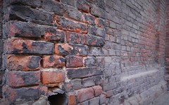 150 years of pollution (roomman) Tags: 2018 lodz poland pabianice industry culture history past story lost place lostplace industrial town city cities towns textile factory brick wall pollution black red bricks dirt dirty coal heavy traffic old polluted winter heat heating power station