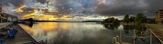Lake Washington Sunset Panorama (BobbyFerkovich) Tags: