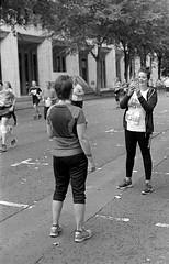 Cardiff 10K (The Unfortunate Whale) Tags: film filmphotography ilford ilfordhp5 hp5 harmantechnology southwales negativefilm blackandwhite bw blackandwhitefilm cardiff olympus om om1n olympuszuiko 50mm 50mmf14 zuiko50mm zuiko zuiko50mmf14 zuiko50mmf14mc yellowfilter xtol xtol11 epson epsonv550 scan street streetphotography wales cardiff10k