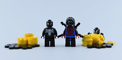 Marvel minifigs #6 Bad spiders️ (Alex THELEGOFAN) Tags: lego legography minifigure minifigures minifig minifigurine minifigs minifigurines marvel universe mcu comics super heroes villain villains spiderman spider manspider man monster venom black yellow gray