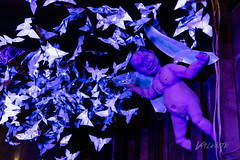 2018 Buskers in the Burg, Workshop (Dennis Valente) Tags: lightpainting buskersintheburg workshop washington art pnw puppet butterflies papermache putto 2018 5dsr usa origami blacklight puppetry ellensburg