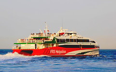 Halunder Jet leaves Cuxhaven (Wolfgang.W. ) Tags: halunderjet katamaran cat schiff ship helgoland hamburg cuxhaven elbe