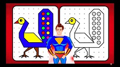 Drawing and Painting for Kids with Superman: A Peacock (I_Am A Kid) Tags: im kid learning channel fun learn kids time royalty free