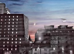 The Skyline Over Manchester City (Ori Liber) Tags: night england skyview skyline sky road avenue streets architecture artistic building buildings morning sunrise sunset city metropolitan manchestercity manchester urban