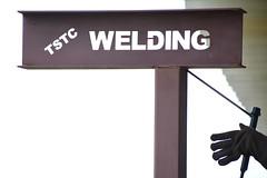 Welding Class Sign (BJ Grete) Tags: welding sculpture class mascot metal mask tool poll typography art trenholm