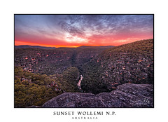 Sunset over Wollemi Natinal Park Wilderness (sugarbellaleah) Tags: wollemi nationalpark wilderness river creek mountains bluemountains greatdividingrange cliffs views sunset scenic scenery amazing stunning wonderful rock geology lookout location travel tourism australia colour vivid red trees forest gumtrees nature environment sky clouds weather colo coloriver crreek sandy sandstone granite high peak
