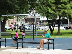 IMG_1870 (Philadelphia Parks & Recreation) Tags: carroll park dedication ribbon cutting playground play kids summer summertime laugh spray sprayground sprinkler jungle gym running laughing run playing new upgrades