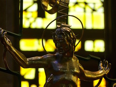 Holding the All (the mindful fox) Tags: crucifix jesuschrist westminsterabbey stainedglass yellow