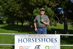 Horseshoes 2018 (maineseniorgames) Tags: maine senior games sport competition athlete horseshoes pit deering oaks park portland