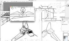 I just started Photoshopping the diagram of the Imperial shuttle Tydirium origami. (Matayado-titi) Tags: sugamata spaceship starship starwars space starfighter shusugamata shuttle vehicle tydirium origami diagram matayado