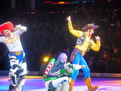 Toy Story Gang (DorothyGaleLovesMe) Tags: toystory pixar pixarcharacter disney disneyonice disneycharacters buzzlightyear woody jessie cleveland ohio quickenloansarena people peoplephotography
