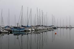 Marina (Antti Tassberg) Tags: nuottaniemi suomi espoo sumu vene satama eps syksy autumn boat fall finland fog harbour marina mist port scandinavia reflection