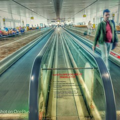 Travelator (Balaji Photography - 5 M views and Growing) Tags: travelator airport movement oneplus mobilephoto mobileclick newdelhi delhi airindia traveling travel
