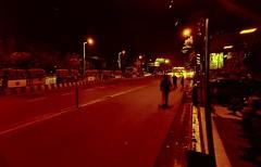 high on hallucinations. (arpanb1999) Tags: night nightphotography red tones hsl street streetphotography vsco lightroom curves mood cars splittoning city citystreets kolkata india