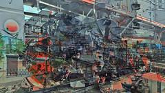 BaikalReise 75d (wos---art) Tags: bildschichtung russland transsibirische eisenbahn historisch ausgemustert stillgelegt schrottplatz ausgestellt präsentiert maschinengeschichte