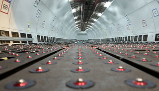empty A300-605R Main Deck Cargo Compartment at HKG/VHHH