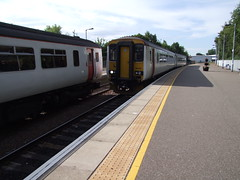 156419 arrives at Beccles with the 2D91 1702 Lowestoft to Ipswich service 04-07-18 (APB Photography™) Tags: class156 156419 beccles railway station