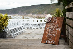 Wedding Ready (James Mans) Tags: nikon d5500 50mm18 polhawn fort cornwall torpoint wedding celebrations sign bride groom marriage flowers bouquet chairs