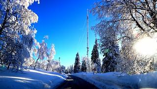 Holmenkollen. Oslo. Winter.