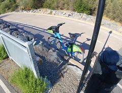 Sad Ford GoBike Guadalupe River Trail just north of Trimble, missing kickstand (Richard Masoner / Cyclelicious) Tags: abandoned bike bicycle gobike motiviate bikeshare dockless