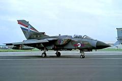 ZA556   BAe/Panavia Tornado GR.4 [BS020] (Royal Air Force) RAF Mildenhall~G 25/05/1991 (raybarber2) Tags: alpechacollection bs020 cnbs020 egun flickr jetaircraft jetfighter negative planebase ukmilitary za556