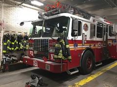 FDNY Ladder 151 (Triborough) Tags: ny nyc newyork newyorkcity queenscounty queens foresthills fdny newyorkcityfiredepartment firetruck fireengine laddertruck ladder ladder151 ffa ferrara