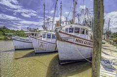 Village Lady Marla Brooke Miss Georgia - McClellanville South Carolina (thepres6) Tags: shrimpboats mcclellanville southcarolina water southernstyle commercial fisherman pier moored
