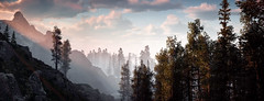 Horizon Zero Dawn (Matze H.) Tags: horizon zero dawn panorama photo mode playstation 4 pro complete edition forrest mountains sunset sunrise clouds fog