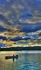 Windy winter weather II (Phone camera) (elphweb) Tags: hdr nsw australia phone phonecamera river water lake windy clouds skies sky