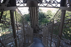 Decent. (lazy south's travels) Tags: paris france french eiffel tower urban stairs steps path building architecture