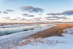 February Flow, Platte River (Aaron Springer) Tags: michigan northernmichigan lakemichigan thegreatlakes sleepingbeardunesnationallakeshore platteriver snow clouds winter outdoor nature landscape
