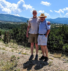 Steve and Shawn on the High Road from Taos to Santa Fe (Riverwest) Tags: highroad taos santafe newmexico