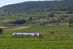 Santenay-les-Bains, Burgundy, France (hktrains) Tags: railcar train trains france french burgundy burgundian bourgogne burgund autorail agc vineyard santenay gare station railway railways railroad europe european hktrains diesel