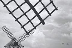 Aspas_Geometría en el cielo (Anavicor) Tags: línea retícula reticle strichplatte reticolo aspa blade lame cielo nublado nube nuage nuvola cloud cloudy molino mill campodecriptana ciudadreal lamancha castillalamancha españa espagne spanien spain nikon d5300 anavicor anavillar villar correro ana geometría minimalista minimalismo blancoynegro blackandwhite bw bn