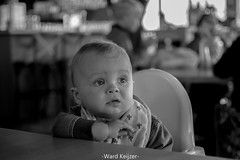 Please sit still... (wardkeijzer_107) Tags: baby boy mels portrait port portretfotografie portret portraitlens nikkor35mm nikon movement beweging adorable cute faces blackwhite