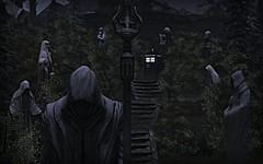 TARDIS Series - Blink (Loegan Magic) Tags: secondlife tardis doctorwho blink statues weepingangels grass trees