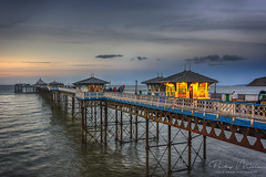 Last Light on the Pier (Philip Moore Photography) Tags: llandudno llandudnopier pier northwales wales seaside sea coast historic architecture victorian bluehour sunset dusk