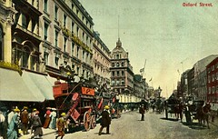 Oxford Street, London, circa 1912 (The Wright Archive) Tags: oxford street london postcard vintage horse drawn trams peter robinson department store shop city people shoppers history londonscene uk england edwardian londonstreetphotography