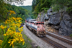 No Sleep til Bluefield (Kyle Yunker) Tags: bcol british columbia railroad ns norfolk southern christiansburg district c408m general electric ge rock cut cowl