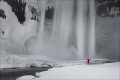 Skogafoss (Jose Cantorna) Tags: skogafoss cascada water waterfall iceland islandia nikon d610 snow nieve ice hielo