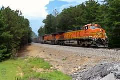 NS 732 (Steve Hardin) Tags: locomotive engine ac4400cw es44dc burlingtonnorthernsantafe bnsf norfolksouthern railway railroad railfan coal train hopper braswell georgia h2