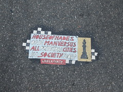 Checkmate House of Hades Toynbee Tile Astor Place 9747 (Brechtbug) Tags: chess man bishop house hades toynbee tile astor place intersection new york city one versus all principal cities society 2017 checkmate art artist mosaic parts part jumbled black top asfalt 09032018 nyc smoker toynbees tiles location located piece forth avenue downtown