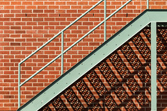 stair, wall and shadow (Marc McDermott) Tags: wall shadow bricks pattern