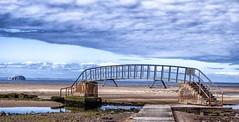 Belhaven Bridge and Bass Rock. (Quiet man 72) Tags: bridgetonowhere dunbar riverforth nikond7000 tamron18200mm