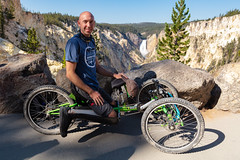 An off-road wheelchair at Artist Point (YellowstoneNPS) Tags: ada artistpoint lowerfalls ynp yellowstone yellowstonenationalpark accessibility offroadwheelchair