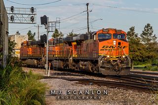 BNSF 7643 | GE ES44DC | BNSF Thayer South Subdivision
