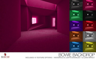 NEW! Bowie Backdrop @ TMD (includes 10 texture options)